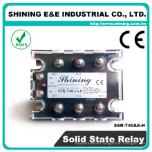 SSR-T40AA-H CE Approved 40A AC To AC Panel Mount Solid State Relay
