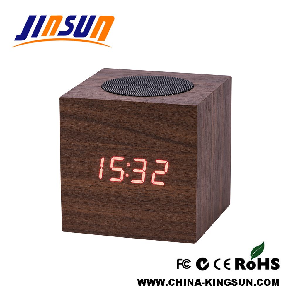 Bluetooth Speaker With Led Clock