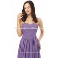 Neuestes Art und Weise handgemachtes Fußbodenlänge langes Entwurfsfestes purpurrotes Abendkleid
