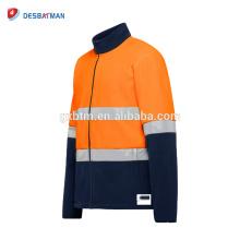 Hi vis 3m warning coat reflective safety jackets cheap promotion reflective bomber safety raincoat with pocket