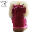 Best fashion bow-tie walking furry ankle flat boots