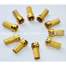 Gold Plated RG6 F Plug