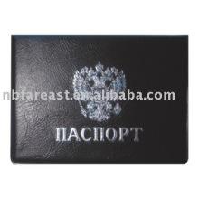2015 Последний подарок, сделанный в Китае черный pu & pvc держатель паспорта