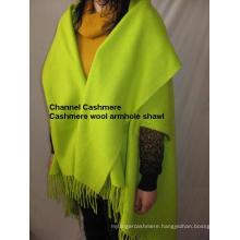 Cashmere Wool Armholes Cape