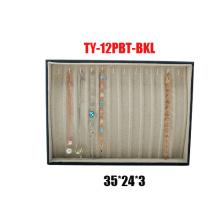 12 Slots Leatherette Bracelets Display Bandeja (TY-12PBT-BKL)