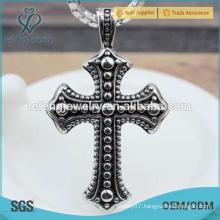 Wild popular custom black stainless steel cross pendant for men