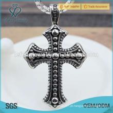Selvagem popular personalizado preto pingente de cruz de aço inoxidável para os homens