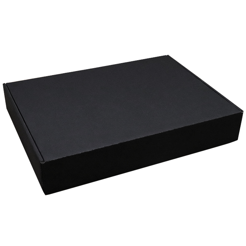 Black corrugated mailing box shipping box