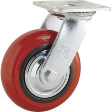 H5 Heavy Duty Type Fixed Type Double Ball Bearing PP Caster