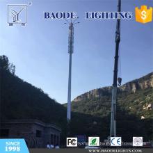 Mástil de antena de microondas y torre de comunicación con iluminación LED