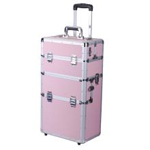 Housse en chariot en aluminium rose coloré