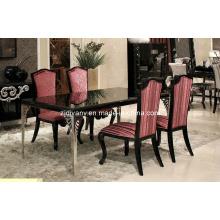 Estilo neo-clássico mobiliário mesa de jantar de madeira (LS-218)