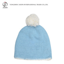 Gestrickte Wobble Hat Acryl Gestrickte Mütze mit Pompom Acryl Gestrickte Mütze Acryl Kintted Toque Winter Wobble Hat