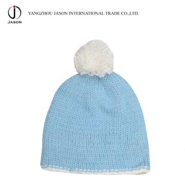 Tricoté Chapeau Bobble Acrylique Chapeau Tricoté avec Pompom Acrylique Tricoté Bonnet Acrylique Kintted Toque Hiver Bobble Hat