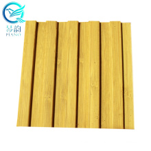 3d Wood Wall Panel Covering Hot Sale Bamboo Fiber Outdoor/interior Wall Decoration 1860*103MM Customized 1000SQM 8/12MM CN;ANH