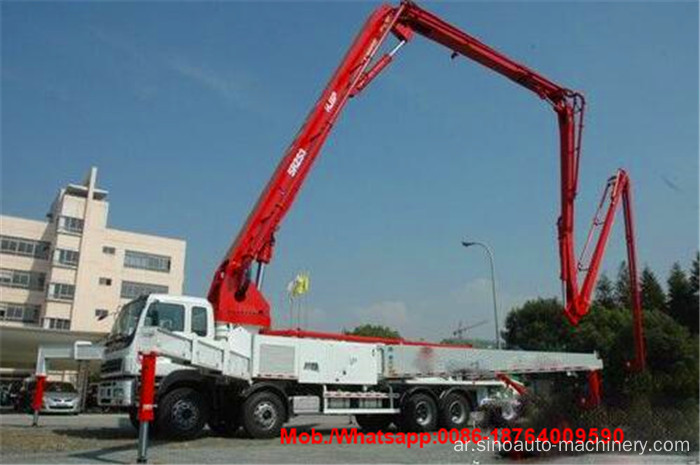 Energy Saving 48m Boom Concrete Pump شاحنة