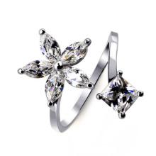 Großhandel Alibaba Best Selling Produkte Exquisite Schneeflocke Diamant offenen Ring