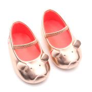 Mooie schattige mol lederen baby jurk schoenen