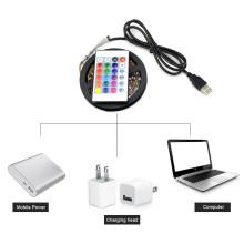 USB LEVOU DC5V SMD3528 RGB LED Flexível LED 3 pcs Mini Remoto 50 CM 1 M 2 M 3 M 4 M 5 M TV Iluminação de Fundo