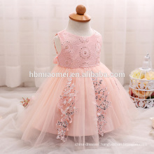 2017 baby girl party dress children frocks designs white/pink/yellow cute mbroidered sequins dress kids for baptism