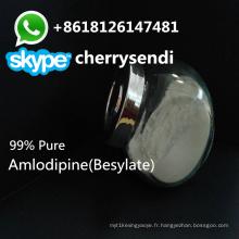 Médicaments antianginal de poudre CAS 88150-42-9 de poudre de bésylate d'amlodipine de 99% pharmaceutique