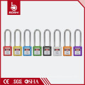 Melhor preço OEM ABS Isolamento Aço Nylon Long Shackle BD-G21 com76mm Cadeado de segurança e Tag KD