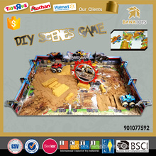 Inteligente diy puzzle arena escena juguete fricción juego libre juego coche