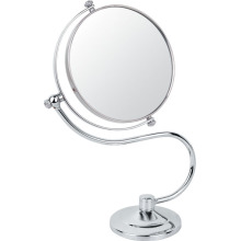 S Shape Metal Chrome Makeup Mirror