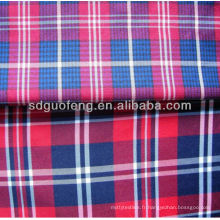 100% coton fil teint tissu / tissu de chemisier pour hommes / tissu de coton 40sx40s 100 tissu teint en fil de coton