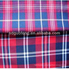 100% algodão tecido tingido de fios / tecido de algodão dos homens 40sx40s 100 algodão tecido de fios tingidos