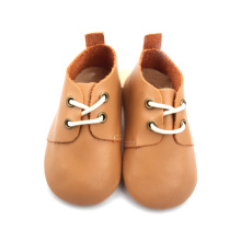 Mjuk läder Baby Girl Oxford casual skor