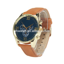 Custom logo fashion leather unisex wrist watch