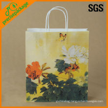 promotional craft paper bag with logo print
