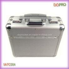 Silver Pilot Case Étui en cuir de qualité Diplomat en aluminium (SATC004)