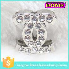 Pernos de broche Cc de cristal de plata personalizados de mini metal a granel de Dubai