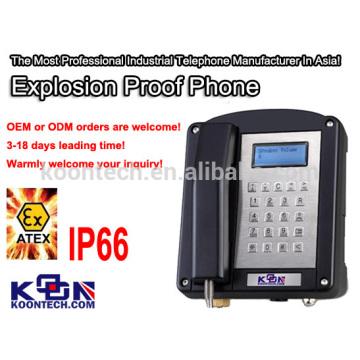 Teléfono a prueba de explosiones del teléfono Atex del ex 200 ex militares