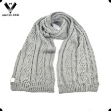 Women′s Winter Acrylic Cable Knitting Pattern Scarf
