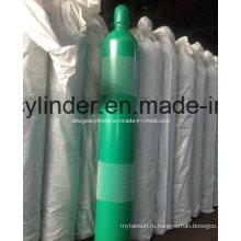 Медицинские баллоны с кислородом на 50 литров с кислородными клапанами