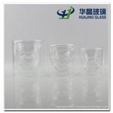 Fancy 100ml 150ml 200ml Skull Double Wall Shot Glass