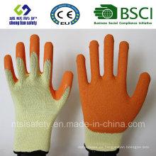 Guantes de látex, guantes de trabajo de seguridad de acabado de arena (SL-R501)
