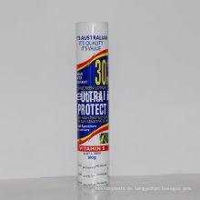 Kosmetisches Plastikrohr 100ml mit Schrumpfverpackung