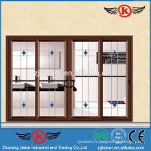 JK-AW9110 style élégant verre transparent coulissant porte vitrée porte serrures de qualité