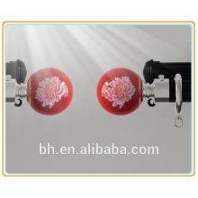 Accesorio elegante de la barra de la cortina del metal de la alta calidad finial