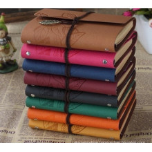 2018 New Leather Diary Notebook for Students Leather Notebook