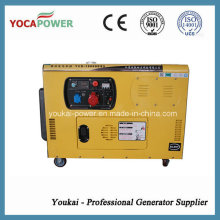 Generador silencioso portátil refrigerado por agua de tres fases 10kw