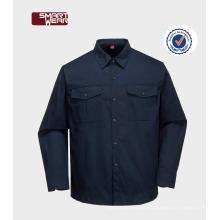 Camisa do workwear industrial do algodão do trabalhador da construção Tc