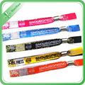 Hot Selling Custom Woven Adults ID Card Wristbands with Plastic or Steel Bukle