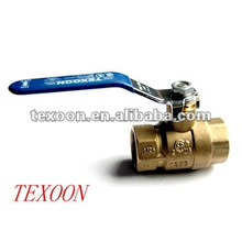 Thread brass ball valve with lever handle CSA UL FM IAPMO