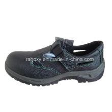 Sandália tipo dividir couro gravado sapatas de segurança (HQ01008)