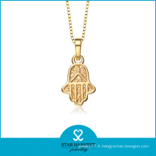 Collier pendentif à main en or plaqué or margain (SH-0169N)
